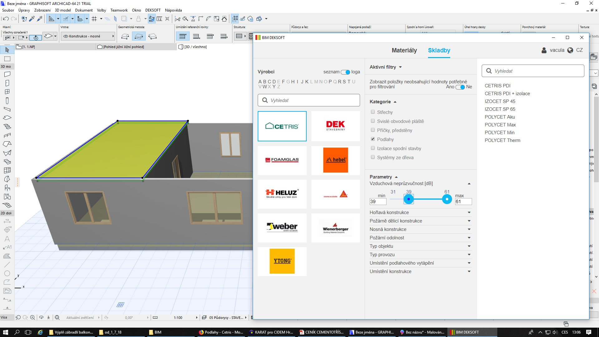 Electronic catalogue for ArchiCAD - Cetris